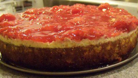 Manhattan-style cheesecake