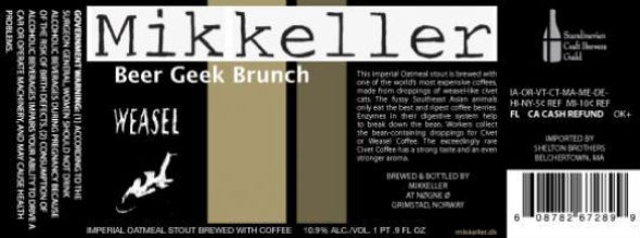 Beer Geek Brunch Islay Edition - en luksus imperial oatmeal stout fra Mikkeller 1
