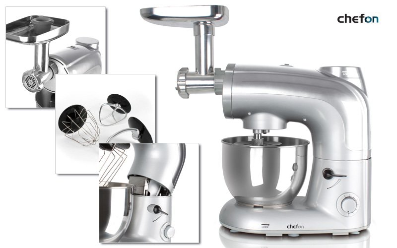 Popuplær og kraftig multifunktions køkkenmaskine fra Chefon 24