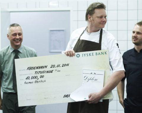 Rasmus Grønbech vinder kokkekonkurrencen Årets Vildtret 2011
