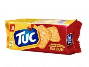 Tuc kiks med bacon